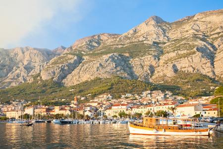 Makarska, Dalmatia, Croatia, Europe - An old traditional fishing boat at the harbor of Makarska