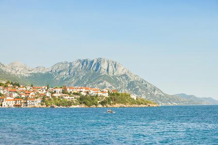 Kapec, Dalmatia, Croatia, Europe - Viewpoint lookout upon the beautiful coast of Kapec 免版税图像