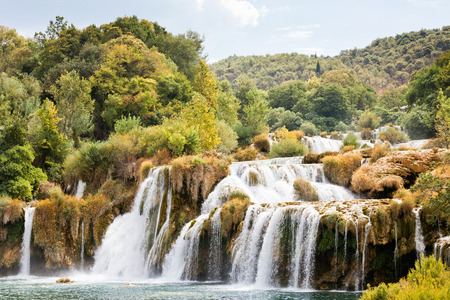 Krka, Sibenik, Croatia, Europe - Hiking through the impressive landscape of Krka National Park