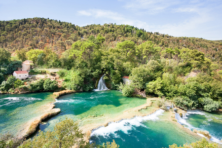 Krka, Sibenik, Croatia, Europe - Sunshine upon the peaceful scenery of Krka National Park