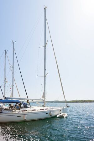Sibenik, Croatia, Europe - Sailing boats at the harbor of Sibenik Standard-Bild