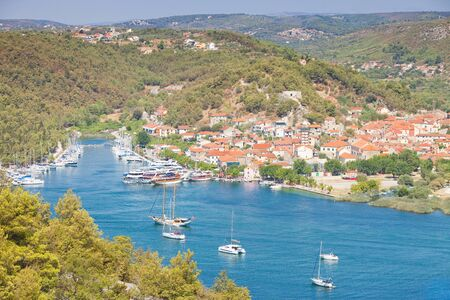 Skradin, Croatia, Europe - Visiting the the beautiful old town of Skradin