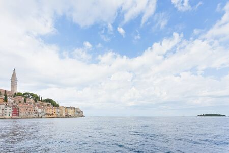Rovinj, Istria, Croatia, Europe - Arriving in Rovinj across the Mediterranean Sea Standard-Bild