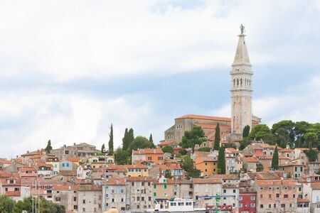 Rovinj, Istria, Croatia, Europe - View upon the old town of Rovinj Standard-Bild