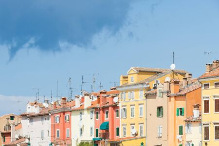 Rovinj, Istria, Croatia, Europe - Colourful facades in the old town of Rovinj