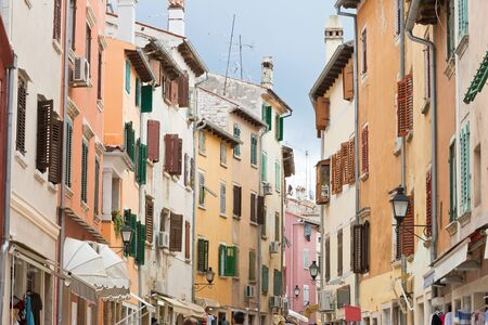 Rovinj, Istria, Croatia, Europe - Walking through the old town of Rovinj