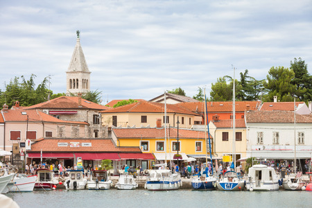 Novigrad, Istria, Croatia, Europe - SEPTEMBER 3, 2017 - Sailing ships and motorboats at the harbor of Novigrad Editorial