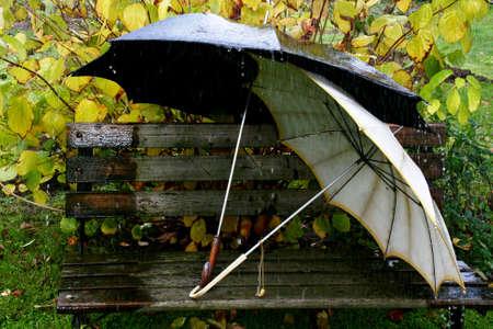 Umbrellas in Rainy Stock Photo - 8464825