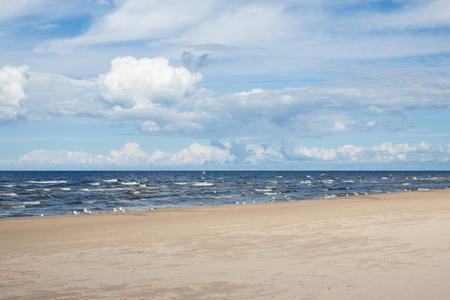 jurmala:  beach baltic sea Stock Photo