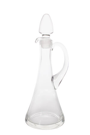 decanter: beautiful glass decanter isolated