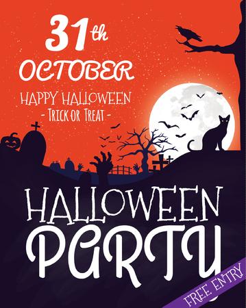 halloween party: Halloween Party Template Illustration