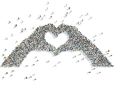 illustration of hands depicting the heart illustration