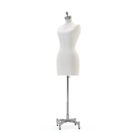 illustrate of a female mannequin , isolated, white bacground photo