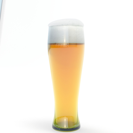 gass: Gass of light beer,isolated,white background Stock Photo
