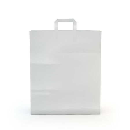 illustrate of a paper bag,isolated,white background Stock Photo
