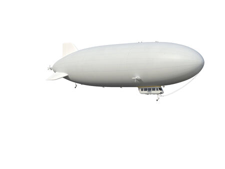 Illustrate of a airship , isolated ,white background