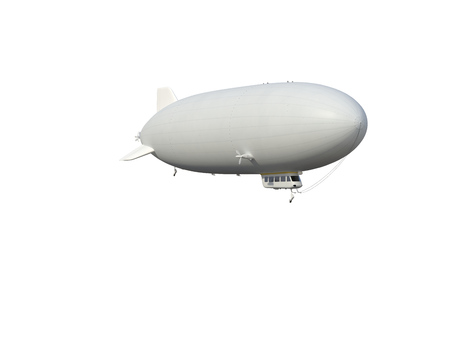 Illustrate of a airship , isolated ,white background photo