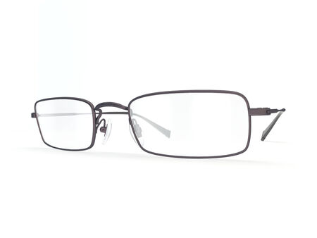 bifocals: illustrate of a glasses , isolated , white background Stock Photo