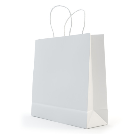 illustrate of a paper bag , isolated , white background