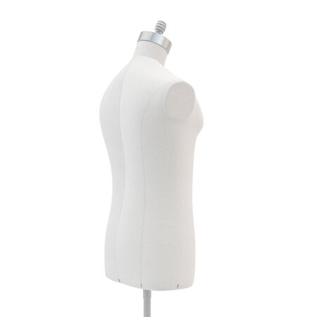 bosom: Male  mannequin on a white background, isolated