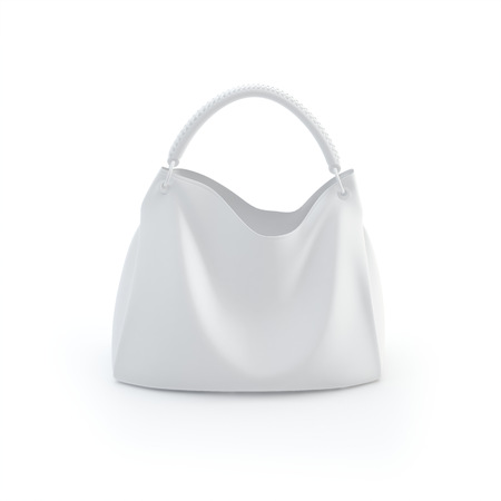 woman handle success: illustration bag on a white background, isolated