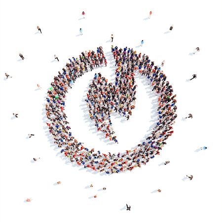 friend chart: People in the form of an abstract symbol business. Stock Photo