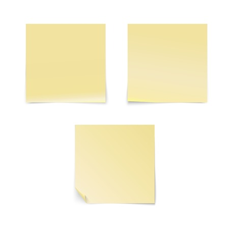 posit: Yellow stick note isolated on white background