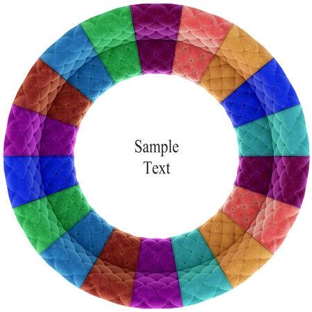 Retro velvet circle texture photo