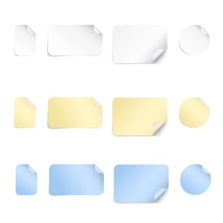 Gele stok notitie geïsoleerd op witte achtergrond Stock Illustratie