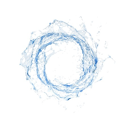 water: Salpicaduras de agua aislado Vectores