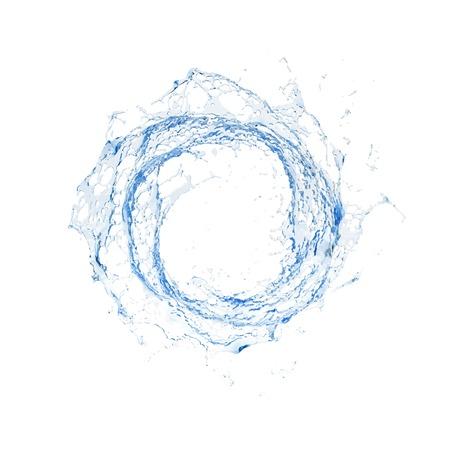 blue circles: Water splash isolated