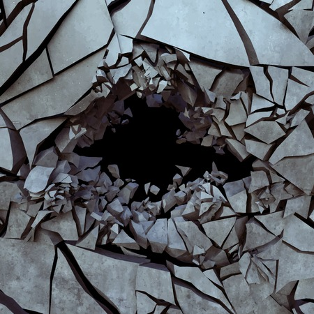 waterless: Cracked earth, vector