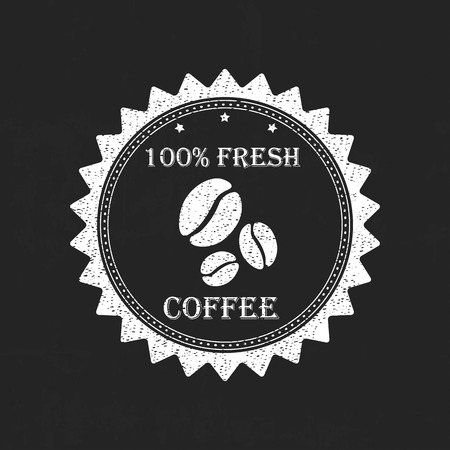 Set vintage retro coffee Vector