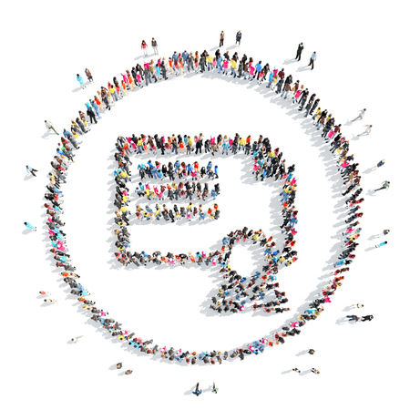userpic: A large group of people in the shape  of a badge.