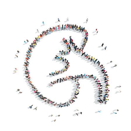 Un groupe de personnes en forme de rein, de la médecine, un flash mob. Banque d'images - 43027717