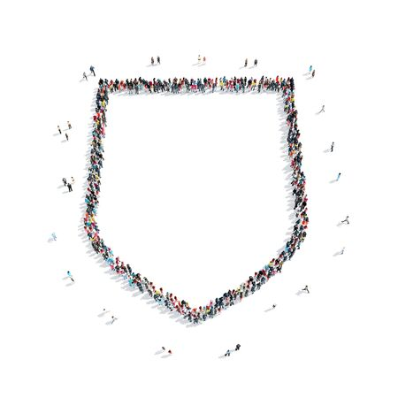 panoply: A group of people in the shape of a shield, protection, flash mob.