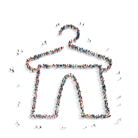 camisole: A group of people in the shape of a hanger, clothes, a flash mob.