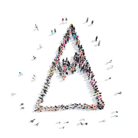 balon de voley: Un grupo de personas en la forma de una montaña, dibujo animado, flash mob.