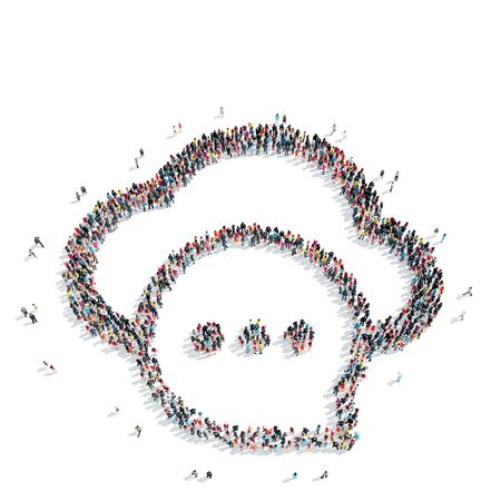 mob: A group of people in the shape of a cloud , flash mob.