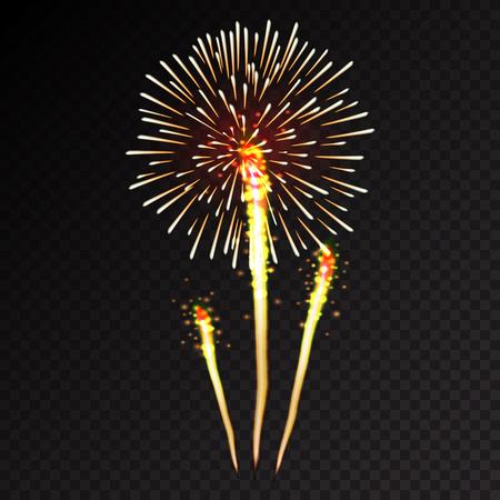 Feuerwerk festlich mit Muster in verschiedenen Formen funkelnde Icons Set schwarzem Hintergrund abstrakte Vektor-Illustration bersten isoliert Standard-Bild - 45991177