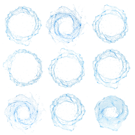 water spray: Water splash isolated , spray , wave , vector illustration