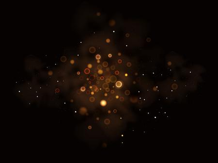 glitter: Illustartion of glittering star , dust  ,glow , gold , lights.