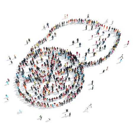 limon caricatura: Un grupo de personas en forma de lim�n, de dibujos animados, aislado, fondo blanco.