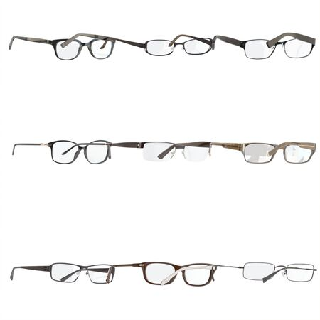 bifocals: Set of a glasses , isolated , white background