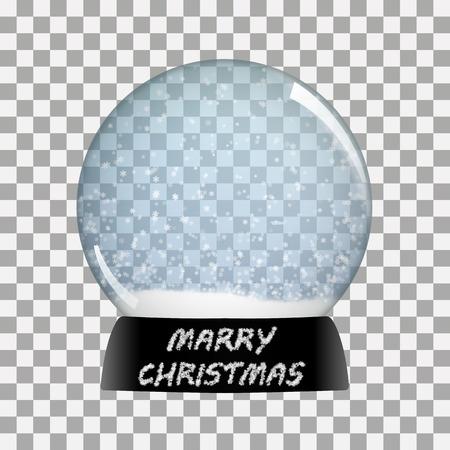 souvenir: Snow globe   happy new year vector winter transparent background