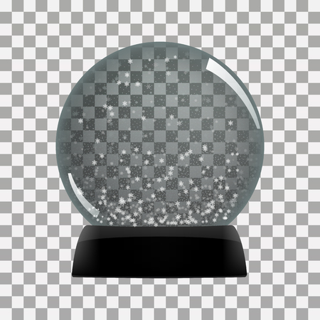 Snow globe vector winter transparent background  toy