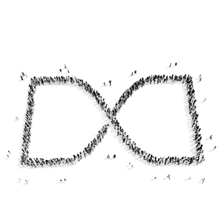 A Group Of People In The Shape Of An Infinity Symbol A Flash