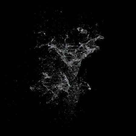 wet flies: Water splash isolated , spray , wave , 3d illustration