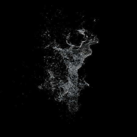 welling: Water splash isolated , spray , wave , 3d illustration