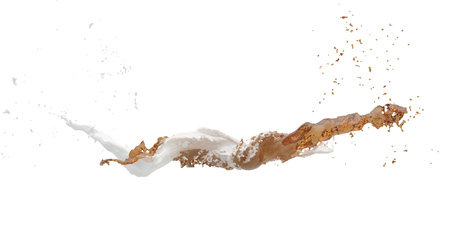 Water splash isolated , spray , wave . Isolated, white background.. 3D  illustration .